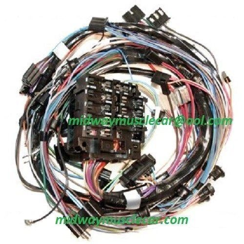dash wiring harness w/o a/c 72 Chevy Corvette ncrs 350 454 vette stingray