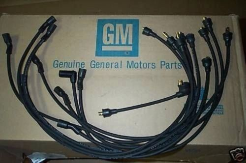 4-Q-64 date coded spark plug wires 65 Chevy Corvette 396 w/o radio
