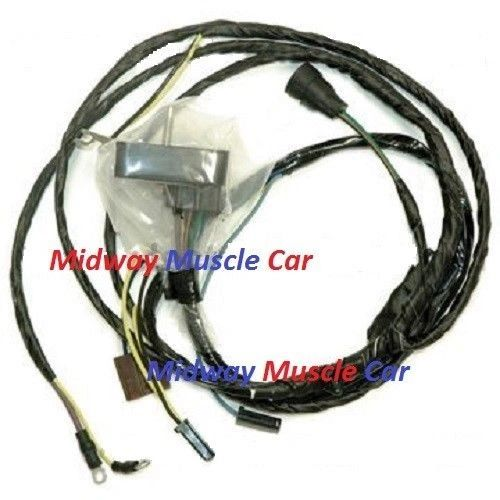 engine wiring harness v8 70 oldsmobile cutlass hurst olds 4-4-2 350 455 |  midway muscle car