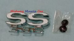 SS396 rear deck tail panel emblem 66 Chevy Chevelle Malibu super sport SS