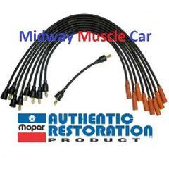 1-Q-66 date coded spark plug wires 66 MOPAR 273 Dart Fury barracuda Coronet