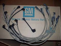 1-Q-66 date coded spark plug wires 66 Chevy Corvette 427 & radio chevrolet vette