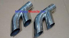"76-81 Pontiac Trans AM Firebird 2.5"" stainless exhaust tail pipe tip splitters"