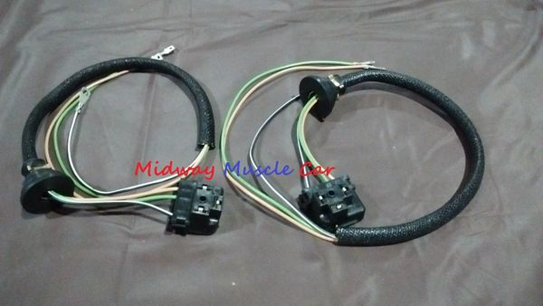 headlight bucket extension wiring harness 55 56 chevy 150 210 bel | midway  muscle car