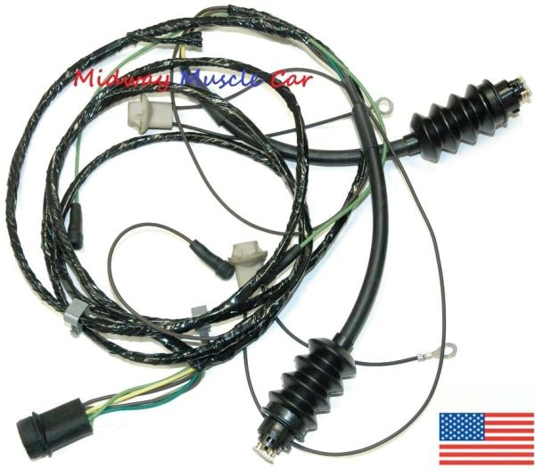 rear body tail light lamp wiring harness 69-72 chevy gmc pickup truck  blazer | midway muscle car