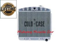 55 56 57 Chevy tri-5 Cold-Case performance aluminum radiator straight 6 mount # RPE563