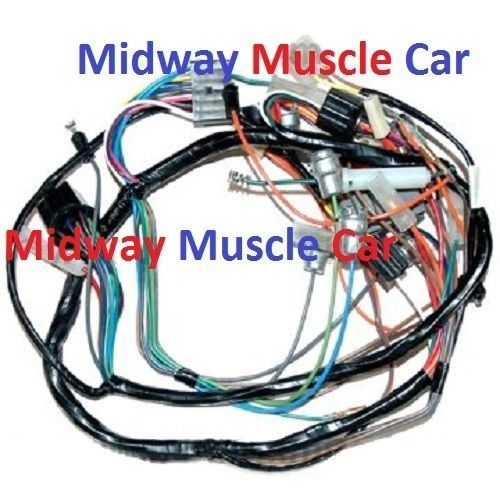 dash wiring harness 57 chevy 150 210 bel air nomad deluxe w/o rad | midway  muscle car