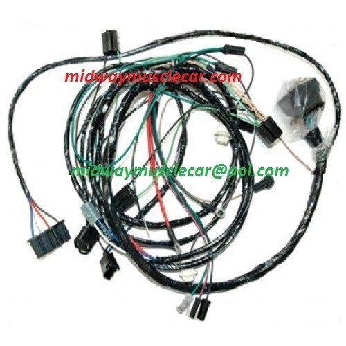 front end head lamp light wiring harness 68 Olds Cutlass Hurst 4-4-2 1968 a/c