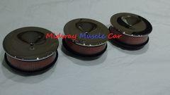 tri-power air cleaner set lid base & hi-flow filter Pontiac GTO Olds Cutlass 442