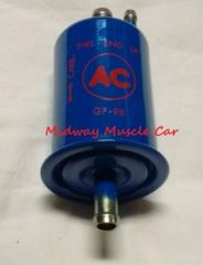 blue with red AC delco logo GF-98 fuel filter Chevy Chevelle Pontiac GTO