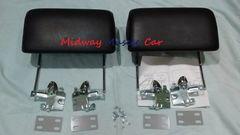 BLACK headrest kit 66 67 Chevy Pontiac GTO Chevelle Cutlass 442 GS Impala