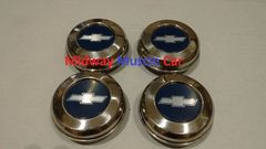 5 spoke Bowtie Wheel Center Cap 71 72 Chevy Chevelle 70-81 Camaro set of 4