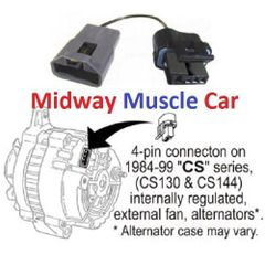 2 wire to 1 wire internal voltage regulator alternator adapter harness