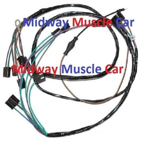 a/c air conditioning control wiring harness olds cutlass 442 66 6 | midway  muscle car