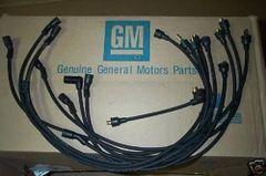 1-Q-66 date coded spark plug wires 66 Chevy II nova 283 327 biscayne impala