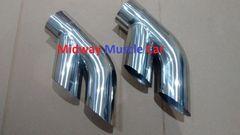 "75-81 Pontiac Trans AM Firebird 3.0"" stainless exhaust tail pipe tip splitters"