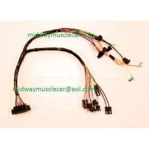 console wiring harness w  console gauges 68 69 70 71 72