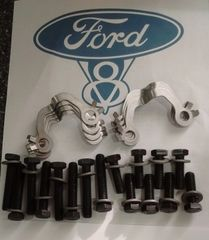 64 65 66 Ford Mustang Falcon exhaust manifold bolts & lock hardware kit 260 289