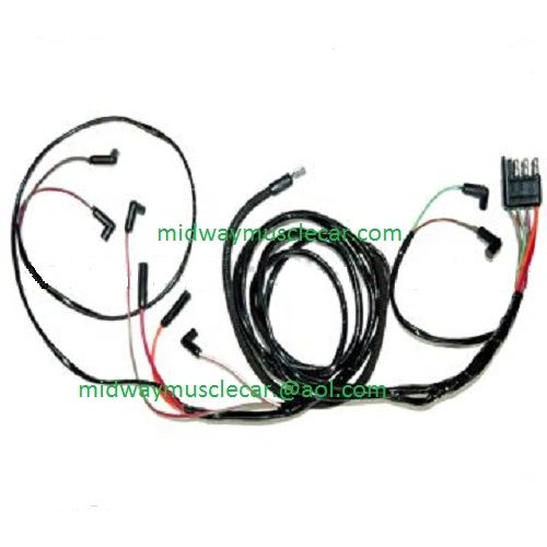 64 ford falcon v8 engine gauge feed wiring harness 1964 260 289 | midway  muscle car