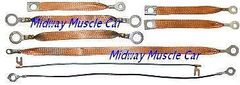 ground strap set 55 56 57 58 59 60 Chevy Corvette 265 283