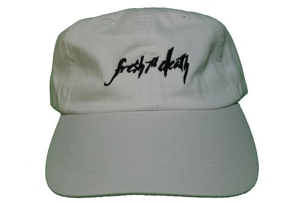 Fresh Til Death Dad Hat - Pigment Washed White