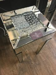 beautiful floating crystal telephone table