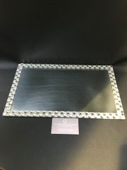 Stunning mirror and crystal candle plate - medium
