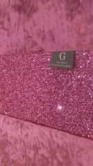 Beautiful pink crushed velvet with pink glitter bed runner