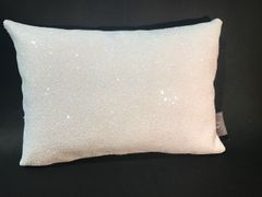 Stunning glitter Claira white Opal scatter cushion