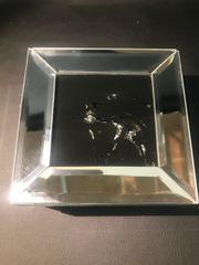 Crystal and mirror black top unicorn jewellery box