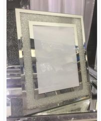 Beautiful mirror and silver sparkle photo frame 4x6