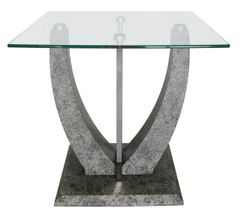 Beautiful Jupiter light grey end table