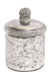 Sparkle antique jar with crystal detail - medium