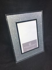 silver glitter and mirror photo frame 5x7 inch