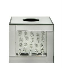 Stunning floating crystal and mirror tissue box holder - small