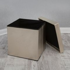Beautiful gold grid detail design storage box