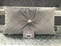 Beautiful soft touch quilted diamond Swarovski crystal button mini scatter cushion - colour options