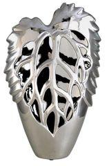 Beautiful 42.5cm Silver Leaf Vase