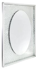beautiful floating crystal oval wall mirror