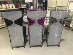 Stunning glitter bow back chairs - colour option