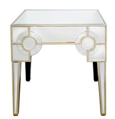 Stunning Hollywood antique mirror end table
