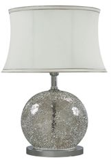 Mercury Sparkle Mosaic Oval Table Lamp