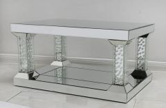 Stunning floating crystal and mirror coffee table