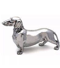 Ornamental Silver Dachshound / Sausage Dog ornament