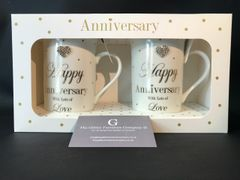 Happy Anniversary sparkle cup - mug set