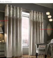 Stunning Kylie at home Esta lined eyelet curtains