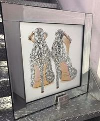 Stunning Jimmy Choo double glitter back mirror picture