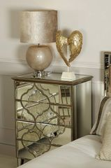 Beautiful Dubai collection 4 drawer mirror cabinet