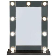 Beautiful Amara 9 LED Light with dimmer Vanity/make-up Mirror with smoked mirror finish surround