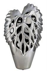 Beautiful 50cm Silver Leaf Vase